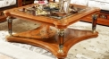 exquisite workmanship solid wood square coffee table