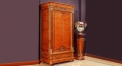 classical hand made solid wood 2-door wardrobe