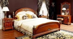 royal hand made solid wood kindbed and night table