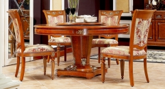 Modern style exquisite hand made solid wood round dining table