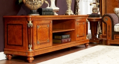 modern style luxury  hand made solid wood high floor cabinet