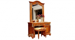 classical solid wood small dresser set, wooden frame stool