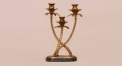 Luxury golden copper and marble style candle holder, home decoration copper candlestick