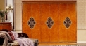 superior handmade solid wood modern desing 6-door wardrobe