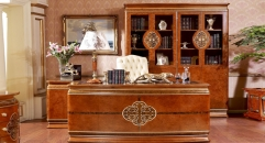exquistie workmanship modern design solid wood writing desk