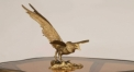 european exquisite workmanship hand made metal craft, copper and marble eagle figurine home decoration