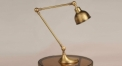 creative new design golden color copper table lamp, 100% copper bedroom table lamp