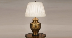 superior European style ancient design copper table lamp, 100% copper bedroom table lamp