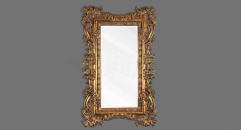 European Antique Refined Resin Mirror Luxury Golden Frame Decor Wall Art Hotel or Beauty Salon or Bathroom Used