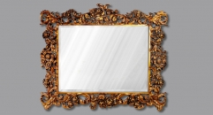 European Refined Resin Mirror Frame European Style Luxury Decor Wall Art Hotel or Beauty Salon or Bathroom Used