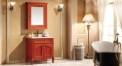 rosewood color ashtree solid wood cabinet and mirror, Splendid marble, single hole and single basin vanities