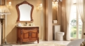 classical yellow brown American red oak cabinet and mirror, peakcock jade marble, single hole and single basin vanities