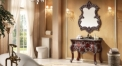 chestnut color foil paint silver oak cabinet and mirror,new classical wood grain marble, single hole and single basin vanities