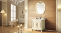 beige and foil paint silver oak cabinet and mirror, venato carrara marble, single hole and single basin bathroom vanities