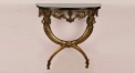 antique exquisite copper and marble console table, living room european style console table