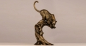 luxury workmanship hand made leopard metal craft, 100% copper leopard figurine home decoration