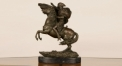 Napoleon copper sculpture decoration, hand made Napoleon and horse home decoration