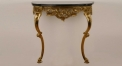 exquisite golden copper and black gold marble console table, living room european style console table