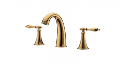 New Design 8 inch Widespread Dual Holder Three-hole Luxury Bathroom Faucet, separate basin mixer, titanium gold faucets