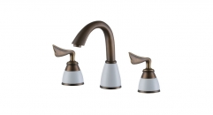 classical 8 inch Widespread Dual Holder Three-hole Luxury Bathroom Faucet, separate basin mixer, old brass faucets