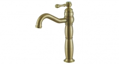 European Style Single Handle single holder Bathroom Faucet, classical 100% copper basin mixer