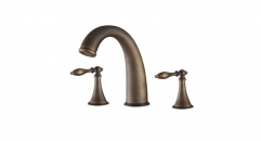 luxury 8 inch Widespread Dual Holder Three-hole Luxury Bathroom Faucet, separate basin mixer, old brass faucets