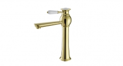 big size exquisite Single Handle single hole Bathroom Faucet, copper basin mixer, cold and hot water basin faucet