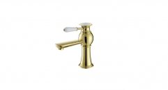exquisite Single Handle single hole Bathroom Faucet, copper basin mixer, cold and hot water basin faucet