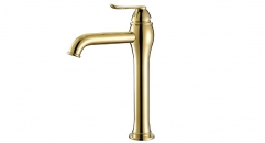 luxury Single Handle single hole Bathroom Faucet, 100% copper basin mixer, cold and hot water basin faucet