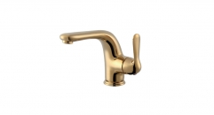 contemporary Single Handle single hole Bathroom Faucet, titanium gold color copper basin mixer, cold and hot water basin faucet