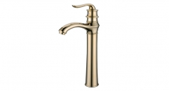 contemporary Style Single Handle single hole Bathroom Faucet, classical titanium gold copper basin mixer
