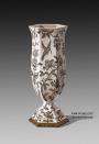 European Brass and Porcelain Crackle Decorative Vase Luxury Ceramic Art Ornament