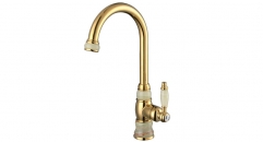 superior single Holder Single Hole cold and hot water kitchen Faucet, marble and copper kitchen mixer