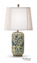 Chinese Antique Porcelain Flower Decorative Table Lamp Brass Base Luxury Ceramic Art Decoration