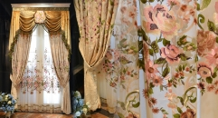 Embroidery Luxurious Chenille Curtain Customized Imperial Quality Fabric Curtains