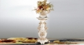 luxury big size ivory porcelain flower pot, exquisite hand made Roman column ivory glazed floor boughpot