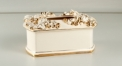 European royal Baroque style tissue box, Luxury ivory handmade porcelain Tissue Box