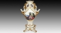 European style luxury ceramic hand made vase, lucky elephant carving ivory porcelain table vase