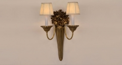 energy saving 100% high quality copper wall lamp, art decoration bedroom lighting, european vintage style reading lamp