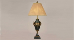 golden copper and import marble table lamp, energy saving and environmental friendly high quality dark green table lighting