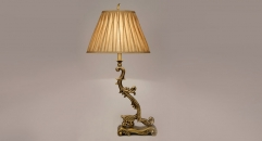 100% golden copper table lamp, energy saving and environmental friendly high quality fashion design table lighting