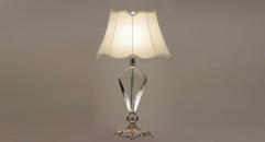 silver copper and import crystal table lamp, energy saving and environmental friendly high quality table lighting