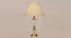 classical copper and import glass table lamp, energy saving and environmental friendly simple design table lighting