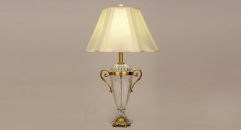 golden copper and import glass table lamp, energy saving and environmental friendly simple European style table lighting