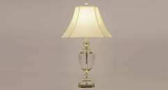 showily copper and import lucid crystal table lamp, energy saving and environmental friendly table light