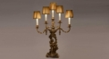 100% golden copper table lamp, energy saving and environmental friendly home decoration fashion design table light