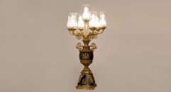 royal design golden copper and noble black marble table lamp, energy saving and environmental friendly table light