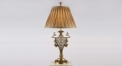100% golden copper table lamp, energy saving and environmental friendly antique flowers carving table light