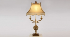 100% golden copper table lamp, energy saving and environmental friendly vintage beauty design table light