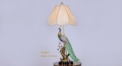 colorful peacock copper table lamp, fashionable beauty design table light, classical wedding gift